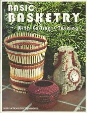 Basic Basketry With Coiling & Twining Vintage Project Instruction Book NEW 1977