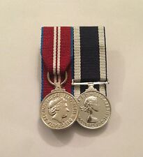 Court Mounted Miniature Medals, Diamond Jubilee & Royal Navy LSGC, Mini, Army