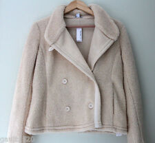 NWT Standard James Perse Faux Shearling Natural White Cozy Jacket Coat 3 L $475