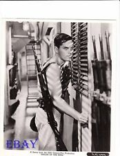 Jeffrey Hunter sexy w/rifle VINTAGE Photo Sailor Of The King