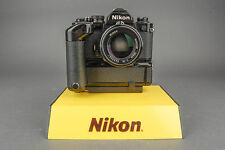 Nikon FM2N 35mm SLR - Black - Film Camera w/ 50mm f/1.4 & Nikon MD-12 Grip