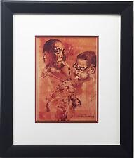 """LeRoy Neiman """"Bird and Diz"""" CUSTOM FRAMED Jazz - Charlie Parker Dizzy Gillespie"""