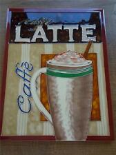 Superb CAFFE LATTE Tubeline Tile Ceramic Coffee Shop Cafe Wall Sign Advertising