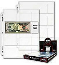 20 - CURRENCY PAPER MONEY 4 POCKET COLLECTOR PAGES ARCHIVAL SAFE