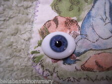 OvAL GLaSs EyEs 14MM BLuE ~ REBORN DOLL SUPPLIES