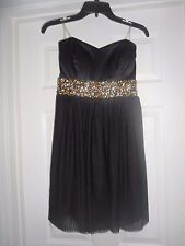 New Teeze me Black Size 9/10 Junior Sequined Side-Cutout Prom Dress $99