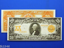 Replica $20 1906 Gold Certificate Note US Paper Money Currency Copy