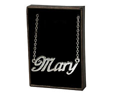 Name Necklace MARY - 18ct White Gold Plated - Engagement Christmas Gifts For Her