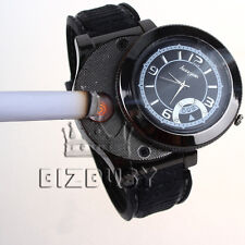 Men Wrist Watch multifunctional Quartz USB Rechargeabl Cigarette Lighter Часы