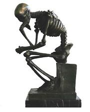 Squelette penseur bronze de Max Milo signé Russo