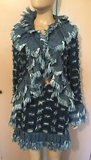 Rare Vivienne Westwood Denim Jacket & Skirt Suit Size 42 Made In Italy