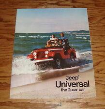Original 1970 Jeep Universal 4-Wheel Drive Sales Brochure 70