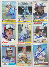 1979 TOPPS SIGNED CARD GARY CARTER MONTREAL EXPOS METS DODGERS GIANTS HOF # 520