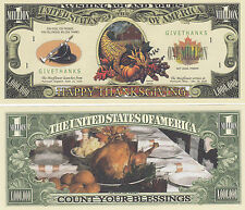 Thanksgiving Holiday Novelty Money Bill # 225