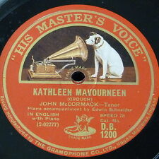 "78rpm 12"" JOHN McCORMACK kathleen mavourneen / love`s old sweet song"