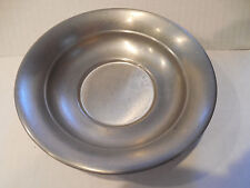 Early American Pewter by Web Saucer Underplate Bowl Dish Tray