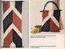 1970s Wall Hanging or Purse Pattern - Craft Book:# 42005 Step-By-Step Macrame
