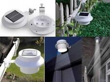 2 Piezas De Led Solar Powered alcantarilla Puerta valla Pared arrojar itinerario Luces de jardín al aire libre