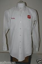 "Nice Vintage Long Sleeve 7up Patch Employee ""DOUG"" Shirt Medium 15 1/2 Neck RARE"