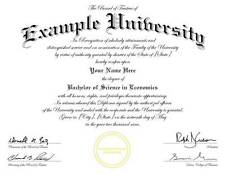Novelty College-University-High School Diplomas