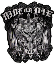 NEW Stunning  Large Ride Ride or Die Biker for Life sew on Motorcycle Patch