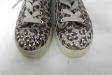 Kids Platform Leopard Sneaker Stud Toe Sz 2 Shoes