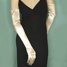 "Opera Gloves 22"" Long Satin Stretch for Evening, Bridal and Prom (G163)"
