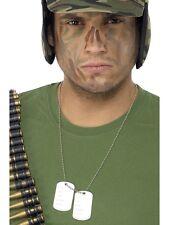 Le etichette dell' esercito DOG TAG Collana Catena Costume Accessorio SOLDATO MILITARE