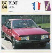 1980-1984 TALBOT TAGORA Classic Car Photograph / Information Maxi Card