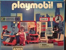 Playmobil 4303 City Train Station Interior NRFB Retired Rare