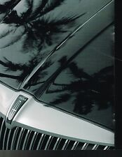 Big 2002 Lincoln CONTINENTAL Brochure with Color Chart: Collector's Edition