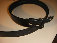 New Black snap on leather belt strap XLarge, without buckle.