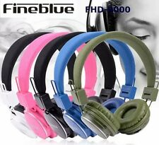 Powerful Bluetooth Stereo Headphones Deep Bass Music DJ Style with FM Radio Pink