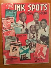 THE INK SPOTS - SONG FOLIO VINTAGE SHEET MUSIC BOOK AUSTRALIA