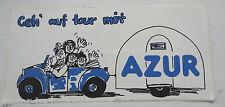 Aufkleber Geh auf Tour mit AZUR Wohnwagen Caravan Camping Sticker 80er