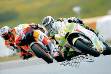 Hector BARBERA with Casey STONER SIGNED MOTOGP Autograph 12x8 Photo AFTAL COA
