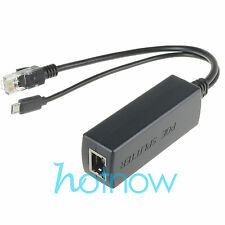 Active PoE Splitter Power Over Ethernet 48V to 5V 2.4A Micro USB 4 Raspberry Pi
