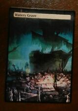 Magic the Gathering Shock Land MTG altered art Zelda Watery Grave