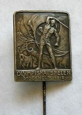 g123 Sweden 1912 Stockholm 5th Summer Olympic Games RARE participant silver pin