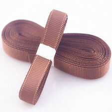 "Brown 5yds 3/8"" (10 mm)Solid Christmas Grosgrain Ribbon Hair Bows Ribbion!"