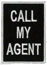 """Call My Agent Embroidered Patch 7CM X 5CM  (2 3/4"""" X 2"""") approx"""