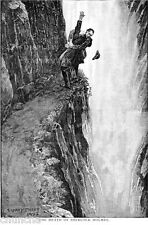 Reproduction The death of Sherlock Holmes at Reichenbach Falls Sidney Paget