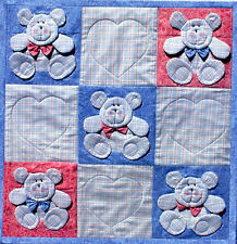 ~NEW CRIB QUILT PATTERN ~ BEAR OR BUNNY DIMENSIONAL ~ SOME PAPER PIECING ~ 38x38