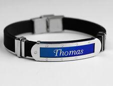 Silicone Nom Bracelet 'Thomas'   Fête des Pères   Cadeaux pour les hommes