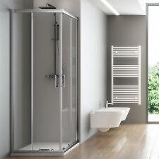 Box doccia cabina angolare bagno in cristallo 6mm trasparente 80x100 o 100x80 cm