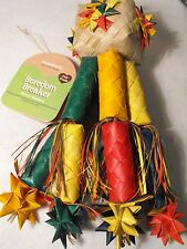 PARROT TOY AFRICAN GREY / MACAW LARGE CHEW AND SHRED SAFE NATURAL PARROT TOY