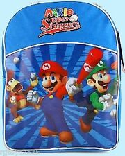 Super Mario Bros MARIO SUPER SLUGGERS Backpack New 15 Inch x 11 Inch x 4 Inch
