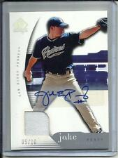 Jake Peavy 2005 SP Authentic Autograph Game Used Jersey #05/10