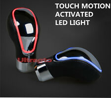 RED Chrome Universal Leather TOUCH MOTION ACTIVATED LED LIGHT Shift knob shifter