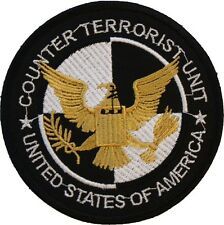 Twenty-Four 24 Counter Terrorist Unit Badge Embroidered Patch Sew/Iron-on 9cm